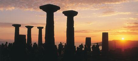 Günbatımında Assos Athena Tapınağı