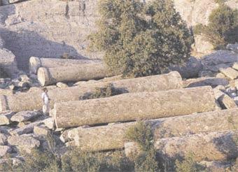 Tarihi Mermer Ocağı'ndan Kalan Sütunlar